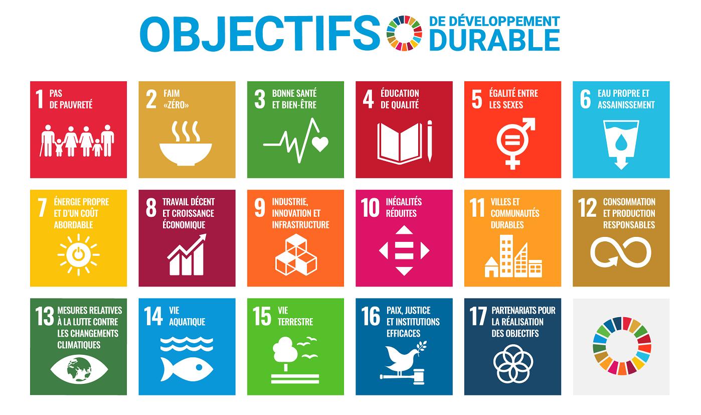 ODD - 17 Objectifs de Développement Durable